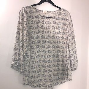 Pixley elephant print top